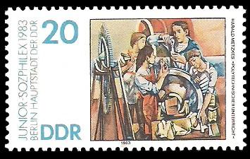 20 Pf Briefmarke: Junior-Sozphilex 1983, Polytechnischer Unterricht