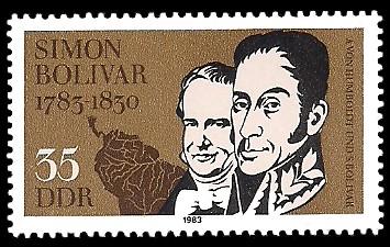 35 Pf Briefmarke: 200. Geburtstag Simon Bolivar