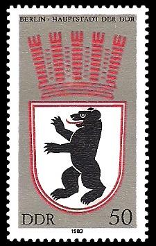 50 Pf Briefmarke: Stadtwappen von Berlin