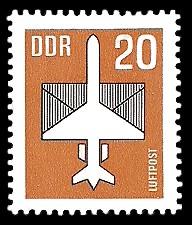 20 Pf Briefmarke: Luftpost