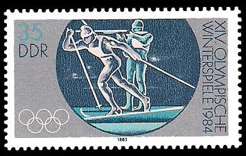 35 Pf Briefmarke: XIV. Olympische Winterspiele 1984, Biathlon