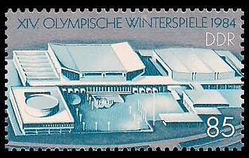 85 Pf Briefmarke: XIV. Olympische Winterspiele 1984