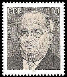 10 Pf Briefmarke: Verdienstvolle Persönlichkeiten der Arbeiterbewegung, Friedrich Ebert