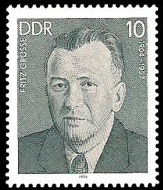 10 Pf Briefmarke: Verdienstvolle Persönlichkeiten der Arbeiterbewegung, Fritz Grosse