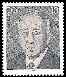 10 Pf Briefmarke: Verdienstvolle Persönlichkeiten der Arbeiterbewegung, Albert Norden
