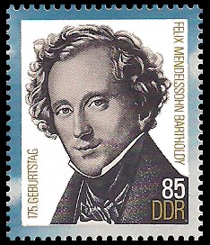 85 Pf Briefmarke: 175. Geburtstag Felix Mendelssohn-Bartholdy