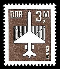 3 M Briefmarke: Luftpost