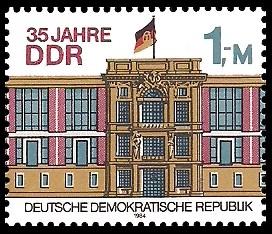 1 M Briefmarke: 35 Jahre DDR, Staatsratsgebäude in Berlin