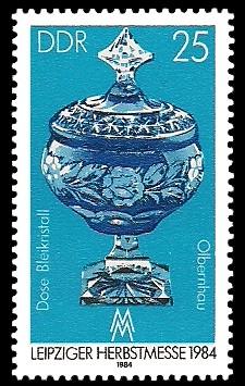 25 Pf Briefmarke: Leipziger Herbstmesse 1984, Bleikristall