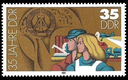 35 Pf Briefmarke: 35 Jahre DDR, Landwirtschaft
