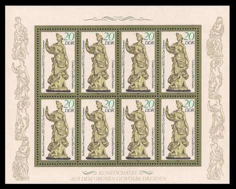 Briefmarke: Kleinbogen - Grünes Gewölbe Dresden, Elfenbeinskulptur Der Sommer