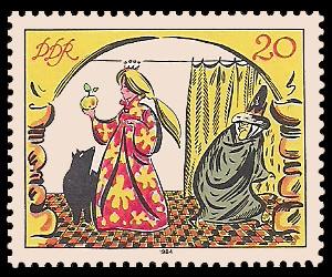 20 Pf Briefmarke: Märchen - von der toten Zarentochter und den 7 Recken