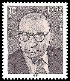 10 Pf Briefmarke: Verdienstvolle Persönlichkeiten der Arbeiterbewegung, Otto Schön