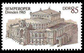 85Pf Briefmarke: Wiedereröffnung der Semperoper in Dresden