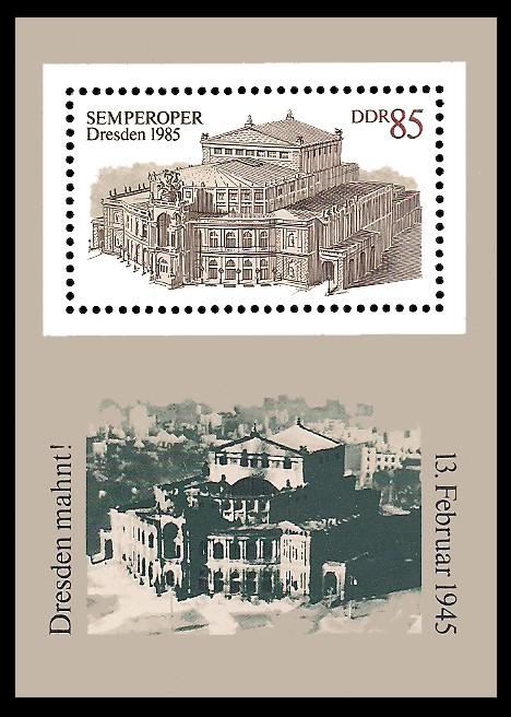 Briefmarke: Block - Wiedereröffnung Semperoper Dresden