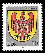 50 Pf Briefmarke: Stadtwappen von Potsdam
