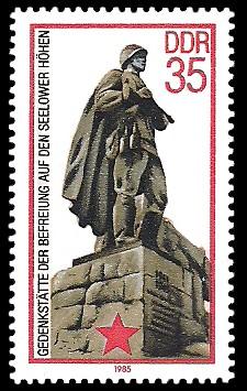 35 Pf Briefmarke: Gedenkstätte der Befreiung auf den Seelower Höhen