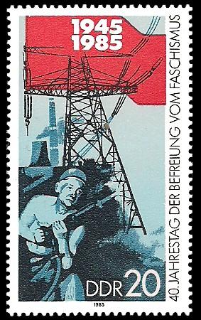 20 Pf Briefmarke: 40. Jahrestag der Befreiung vom Faschismus, Hennecke-Aktivisten
