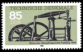 85 Pf Briefmarke: Technische Denkmale, Balancier-Dampfmaschine