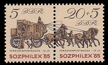 Briefmarke: Zusammendruck - Sozphilex '85