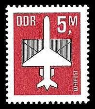5 M Briefmarke: Luftpost