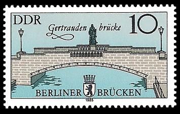 10 Pf Briefmarke: Historische Berliner Brücken, Gertrauden-brücke