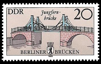 20 Pf Briefmarke: Historische Berliner Brücken, Jungfern-brücke