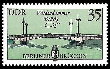 35 Pf Briefmarke: Historische Berliner Brücken, Weidendammer Brücke