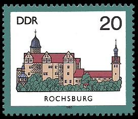 20 Pf Briefmarke: Burgen der DDR, Rochsburg