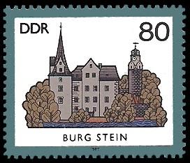 80 Pf Briefmarke: Burgen der DDR, Burg Stein