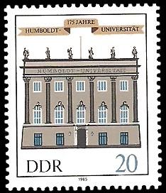 20 Pf Briefmarke: 175 Jahre Humboldt-Universität