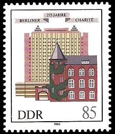 85 Pf Briefmarke: 275 Jahre Berliner Charité