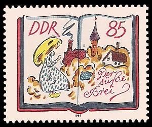 85 Pf Briefmarke: 200. Geburtstag Jacob und Wilhelm Grimm, Der süße Brei