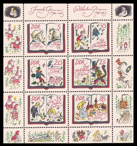 Briefmarke: Kleinbogen - 200. Geburtstag Jacob und Wilhelm Grimm