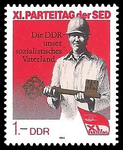 1 M Briefmarke: XI. Parteitag der SED - Wohnungsbauprogramm