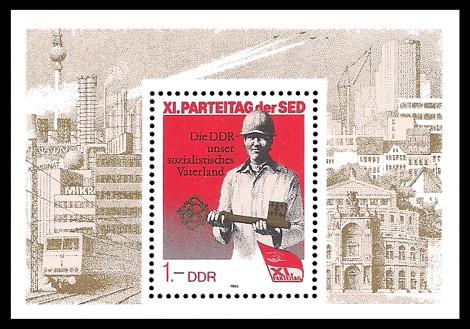 Briefmarke: Block - XI. Parteitag der SED