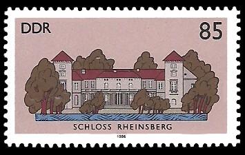85 Pf Briefmarke: Schlösser der DDR, Schloss Rheinsberg