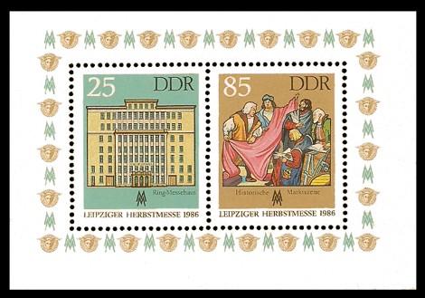 Briefmarke: Block - Leipziger Herbstmesse 1986