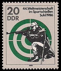 20 Pf Briefmarke: 44. Weltmeisterschaft im Sportschießen, Gewehrschießen