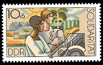 10 + 5 Pf Briefmarke: Solidarität