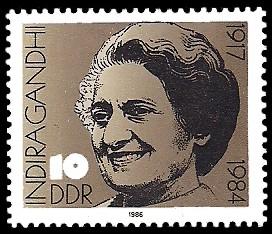 10 Pf Briefmarke: Indira Gandhi