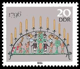 20 Pf Briefmarke: Erzgebirgische Schwibbogen, 1796