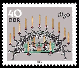 40 Pf Briefmarke: Erzgebirgische Schwibbogen, 1830
