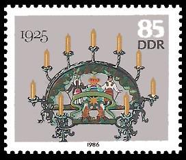 85 Pf Briefmarke: Erzgebirgische Schwibbogen, 1925