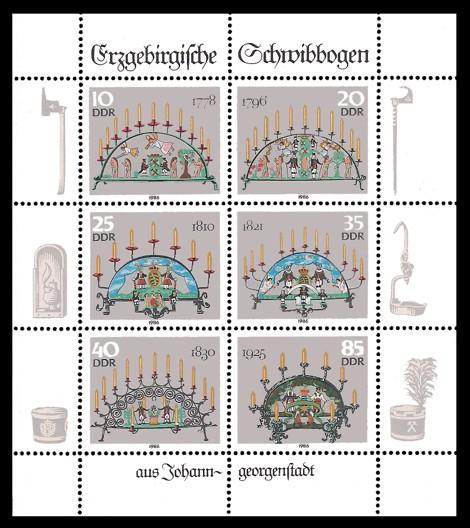 Briefmarke: Kleinbogen - Erzgebirgische Schwibbogen