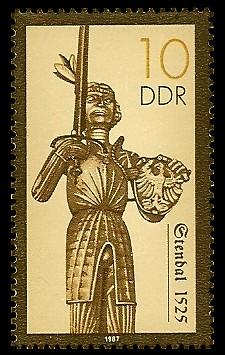 10 Pf Briefmarke: Rolande, Stendal