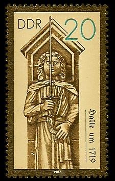 20 Pf Briefmarke: Rolande, Halle