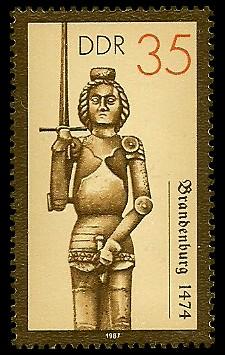 35 Pf Briefmarke: Rolande, Brandenburg