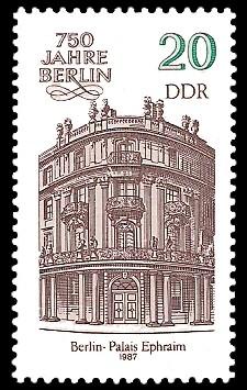 20 Pf Briefmarke: 750 Jahre Berlin, Palais Ephraim