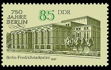 85 Pf Briefmarke: 750 Jahre Berlin, Friedrichstadtpalast